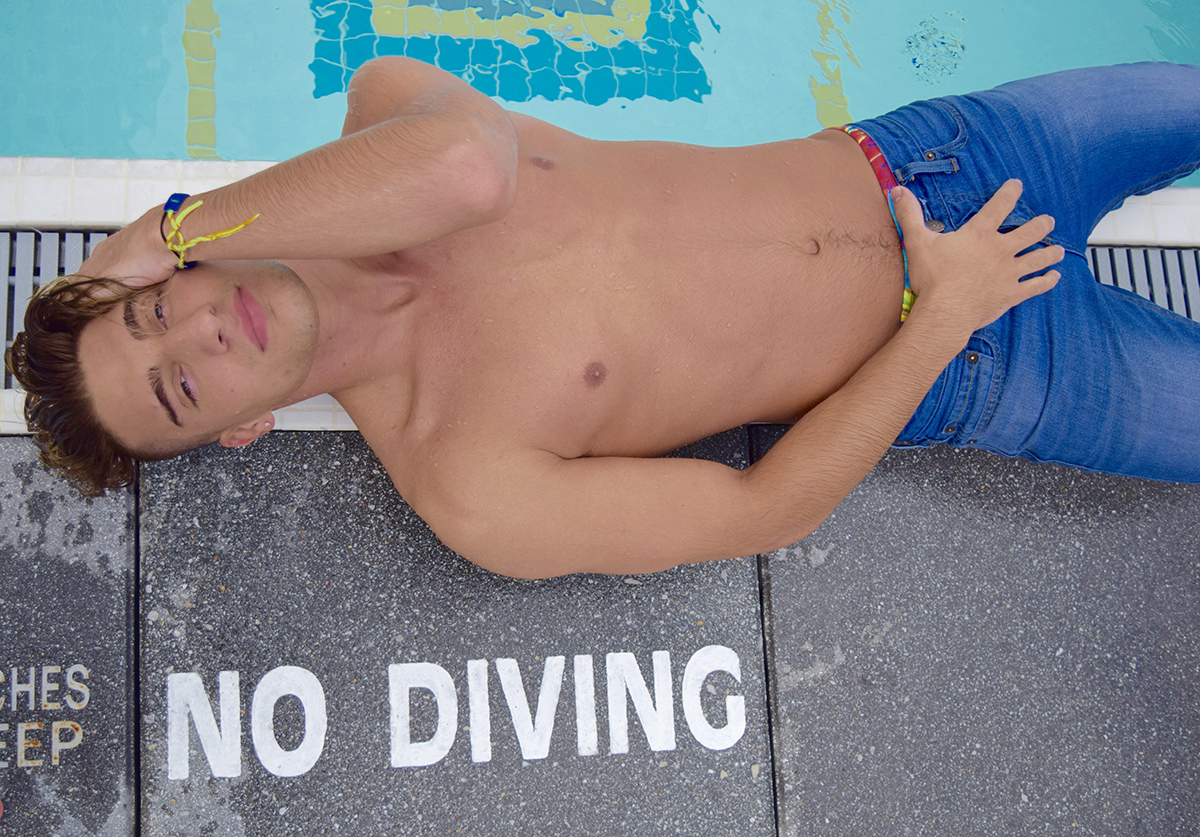 No Diving: Trevor Casper by SwimmingInJeans